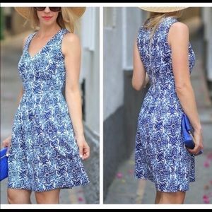 Milly Dresses - MILLY By DESIGN NATION Blue/Wht Banvin Print Dress